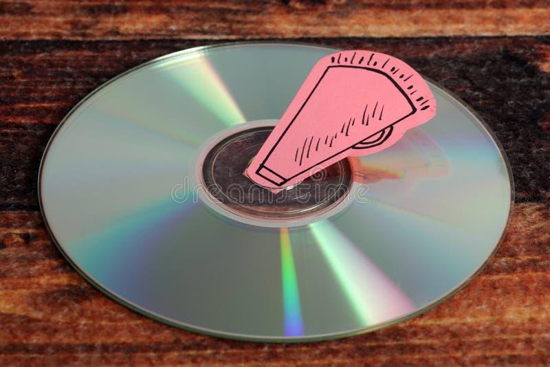 Compact disc di musica fotografia stock