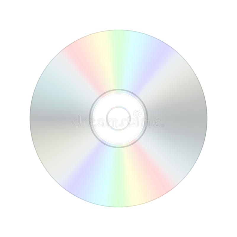 Compact disc digitale del CD. illustrazione vettoriale