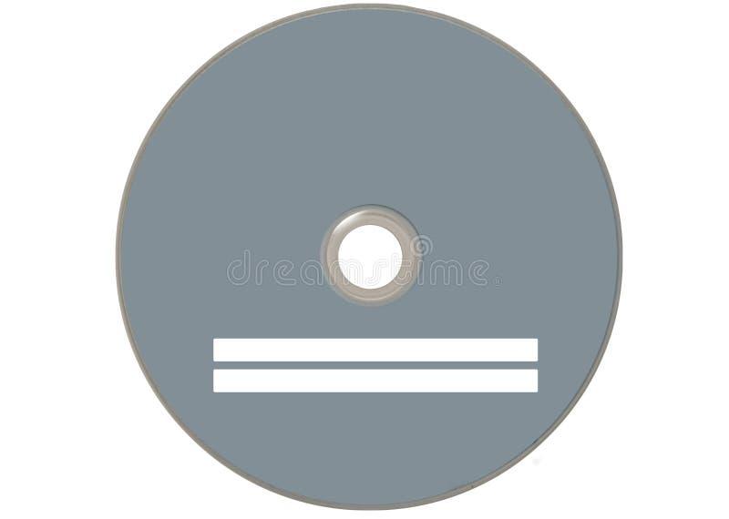 Compact disc grigio isolato fotografia stock