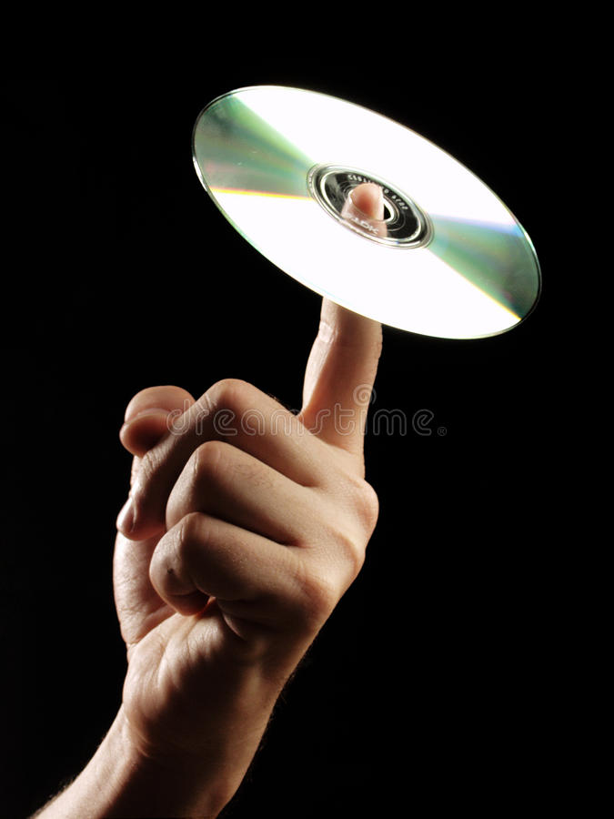 Download Compact disc hand. stock photo. Image of isolated, black - 20719488