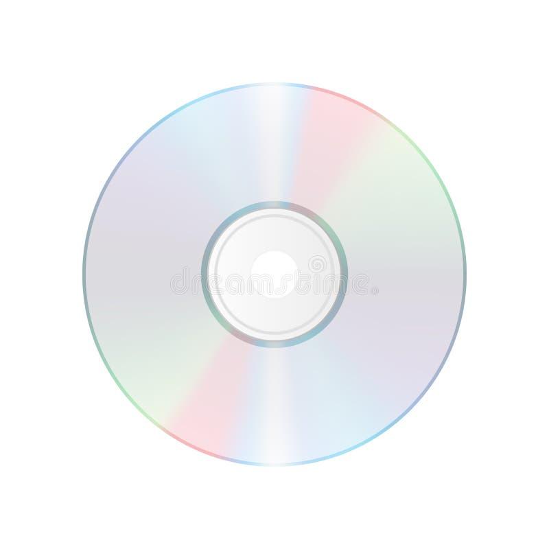Compact disc isolato su fondo bianco Icona realistica del CD CD illustrazione vettoriale