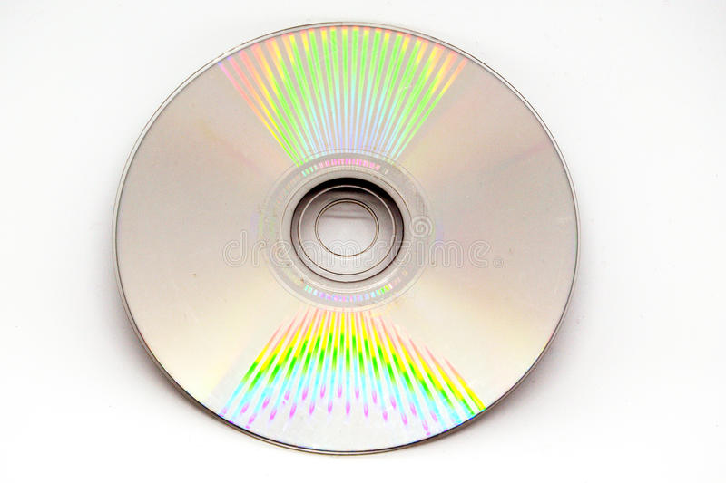 Compact disc. Light reflects off a compact disc stock images