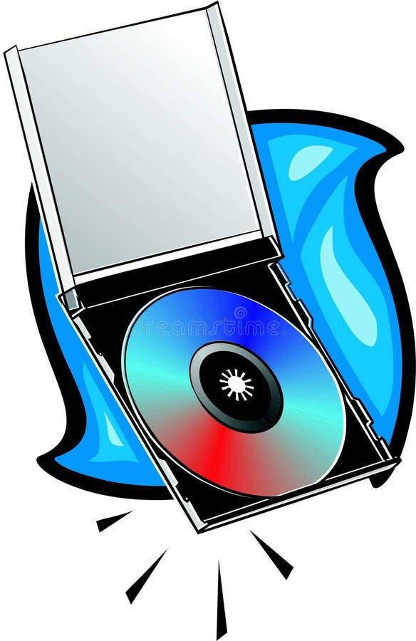 Compact-disc met juweelgeval stock illustratie