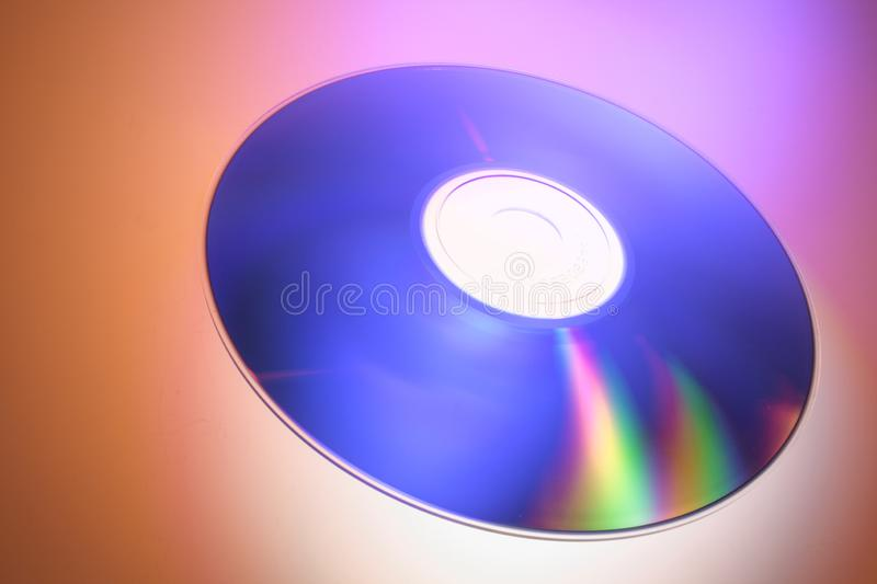 Compact Disc. On Red Background stock image