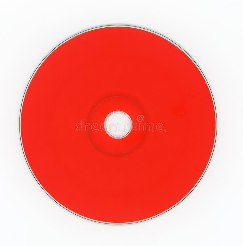 Compact disc rosso del CD per musica fotografie stock libere da diritti