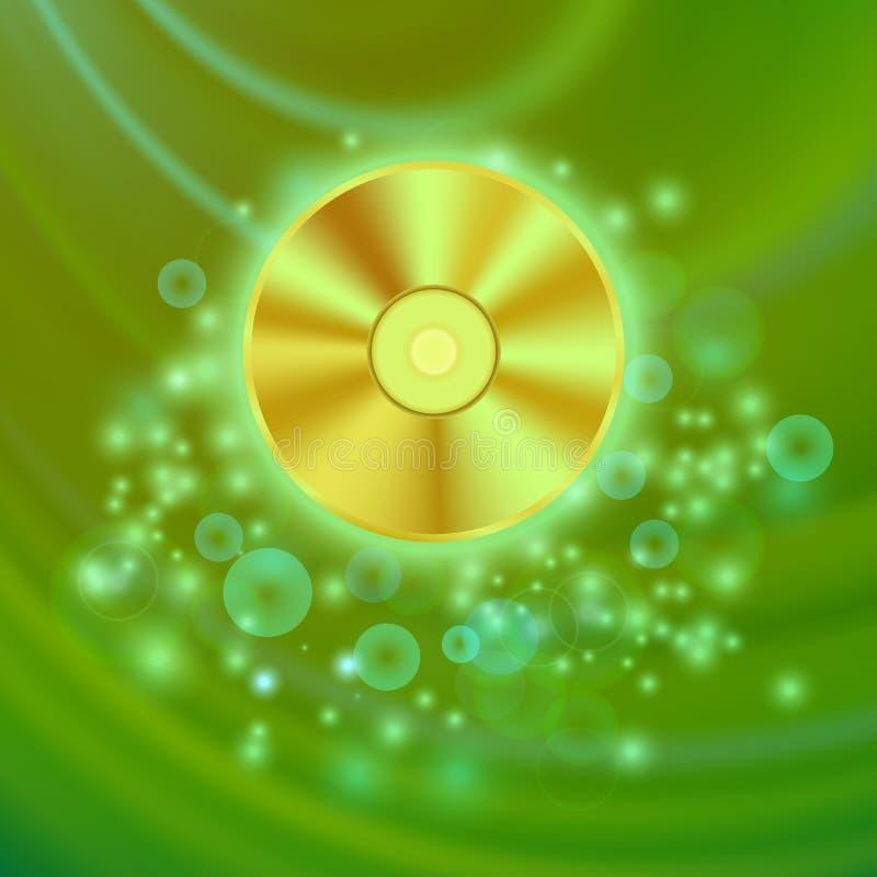 Compact disc su Wave verde royalty illustrazione gratis