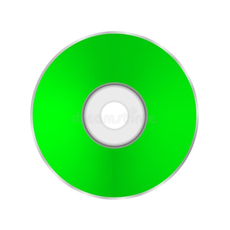 Compact disc verde ilustração royalty free