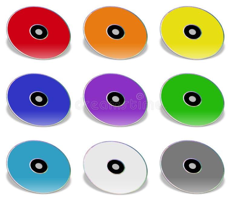 Compact-discs stock illustratie