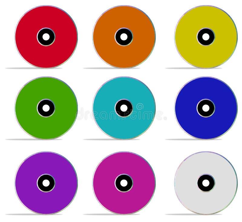 Compact-discs royalty-vrije illustratie