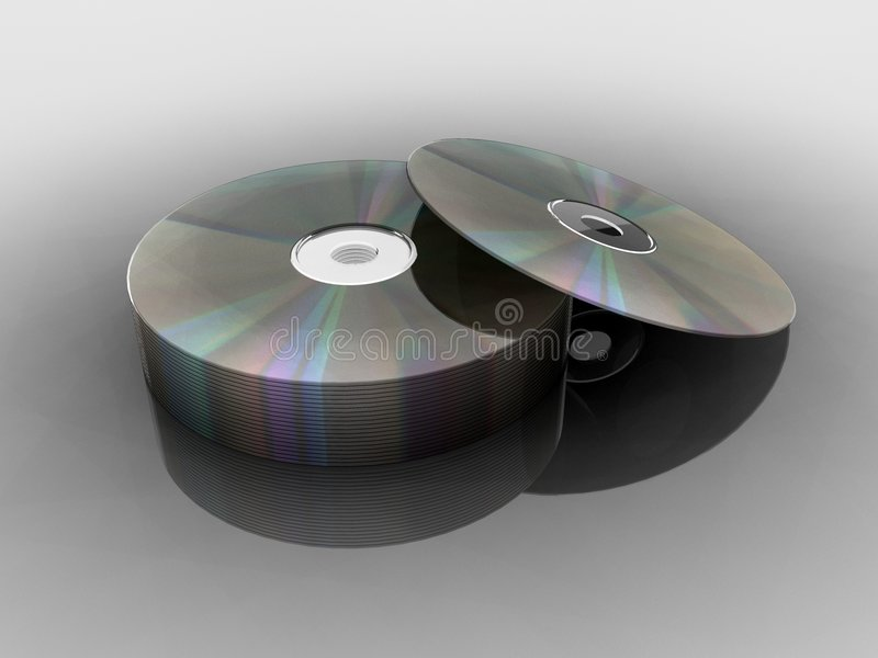 Compact Discs CD/DVD royalty free stock photo