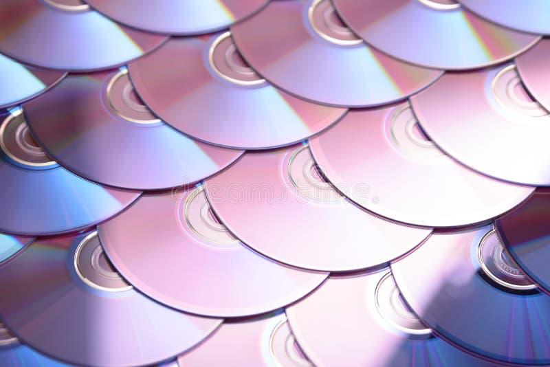 Compact-discsachtergrond Verscheidene schijven blu-Ray van CD dvd Optische recordable of rewritable digitale gegevensopslag royalty-vrije stock foto