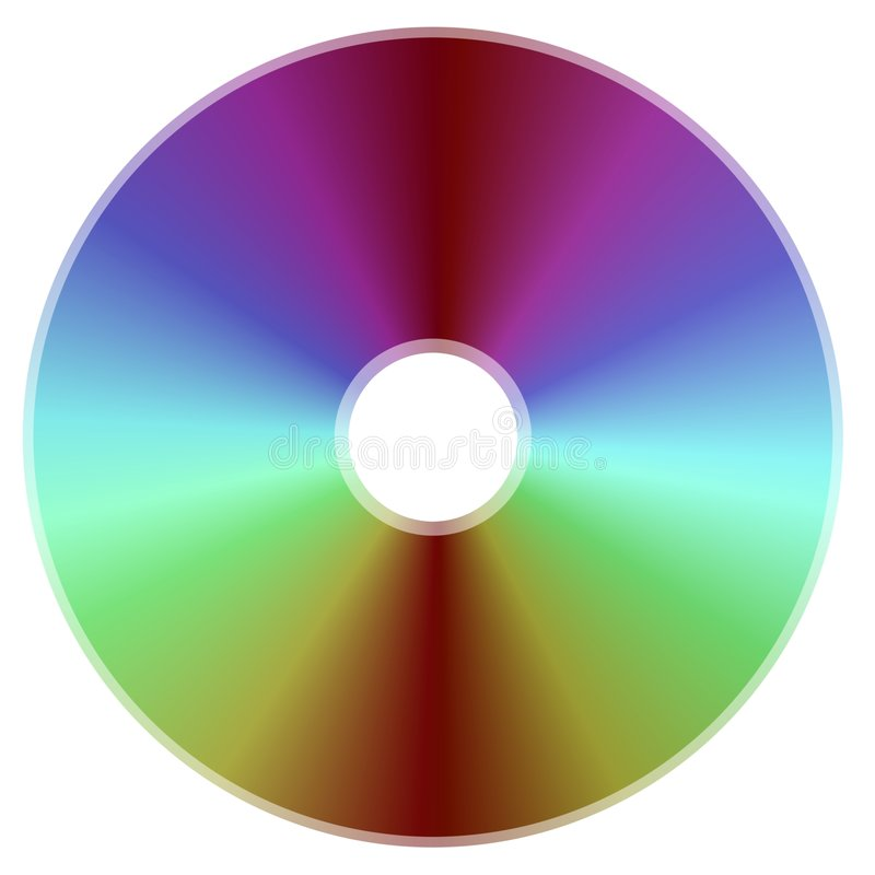Compact Disk. A Compact Disk is Isolated against a White Background royalty free stock image