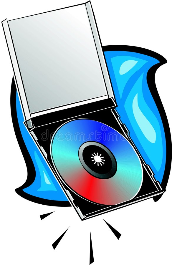 Free Compact Disk With Jewel Case Royalty Free Stock Photo - 441745