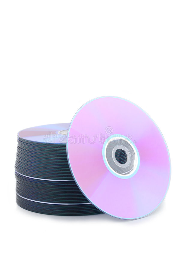 Compact disks or DVD disks stock photography