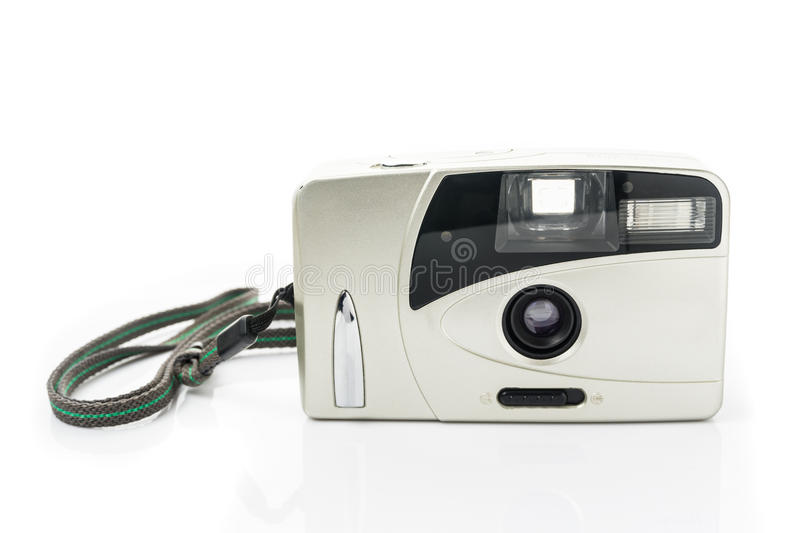 Compact film camera isolated royalty free stock image