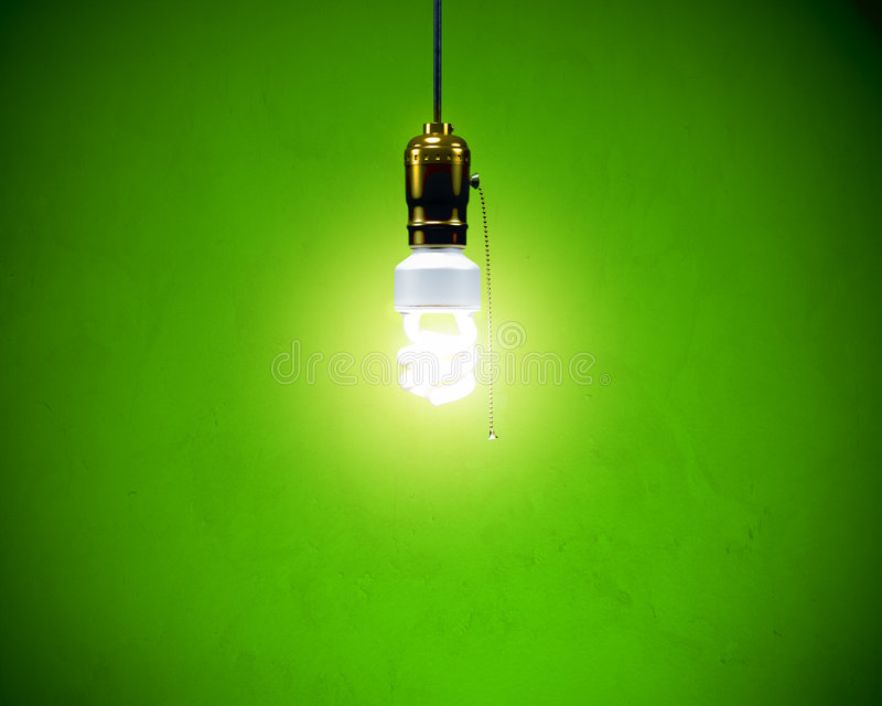 Download Compact Fluorescent Bulb - Hanging Stock Photo - Image: 8098534