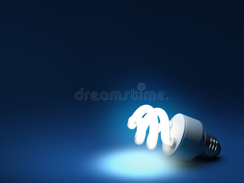 Download Compact Fluorescent Bulb - Resting Royalty Free Stock Photography - Image: 8104397