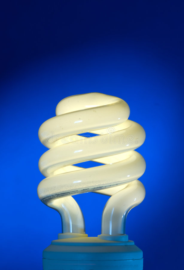 Compact Fluorescent Household Lamp royalty free stock photos