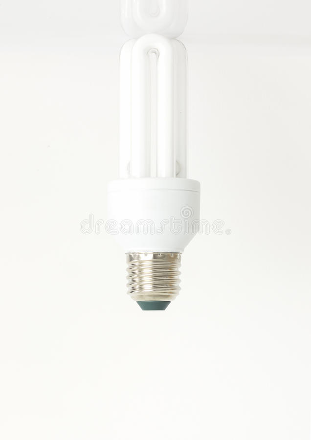 Compact fluorescent lamps stock photos