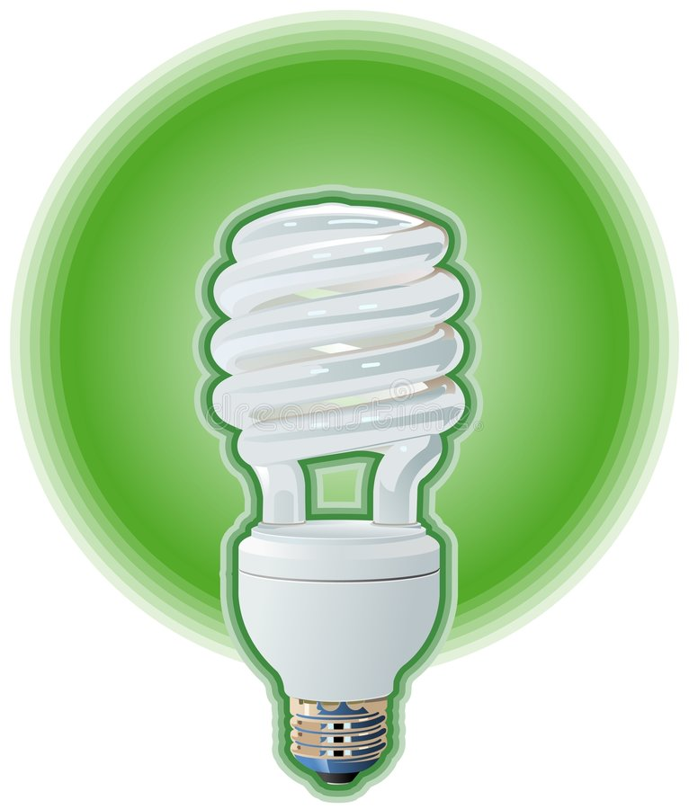 Compact Fluorescent Light Bulb vector illustration