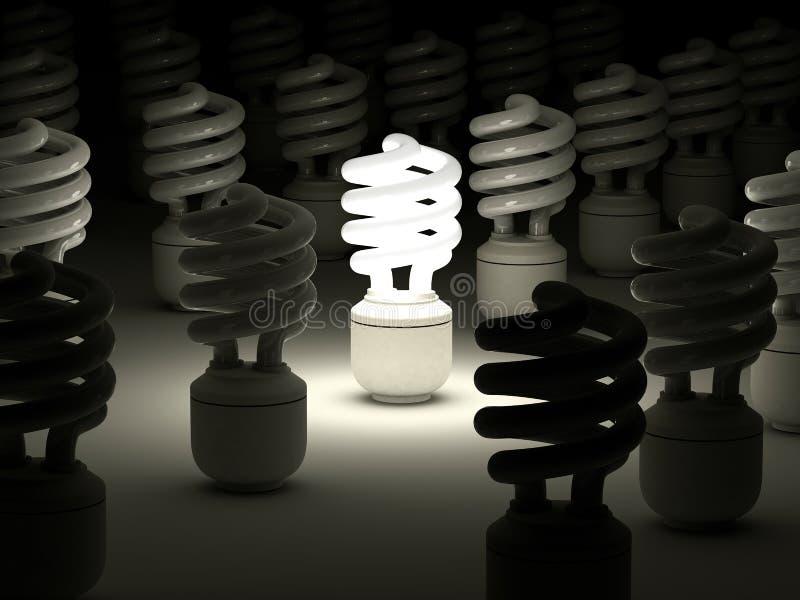 Compact fluorescent light bulb royalty free illustration