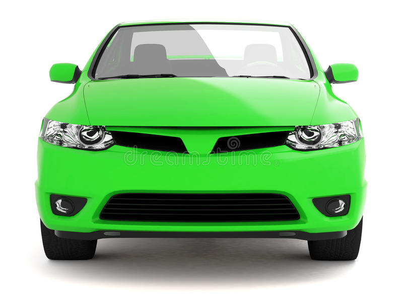compact green car front view stock images image 12111724. Black Bedroom Furniture Sets. Home Design Ideas