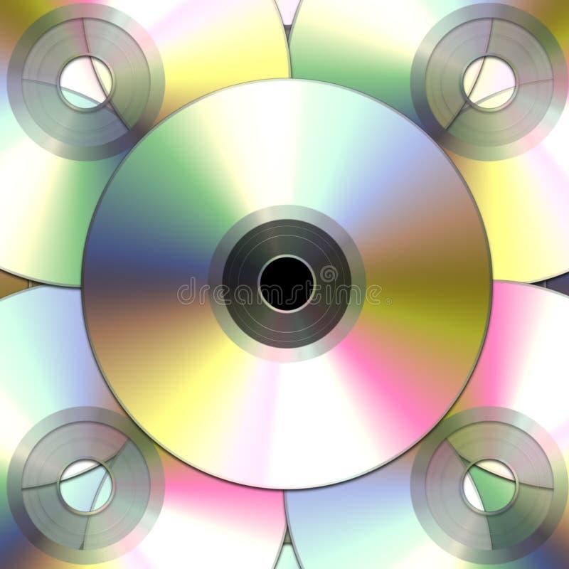 Compact-$l*Disk dvds διανυσματική απεικόνιση