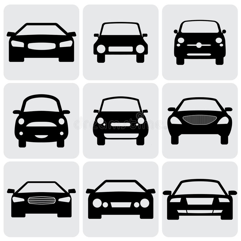 Compact and luxury passenger car icons(signs) fro royalty free illustration