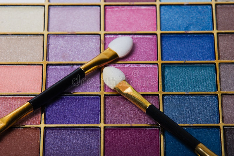 Compact Make-up Set Royalty Free Stock Photos