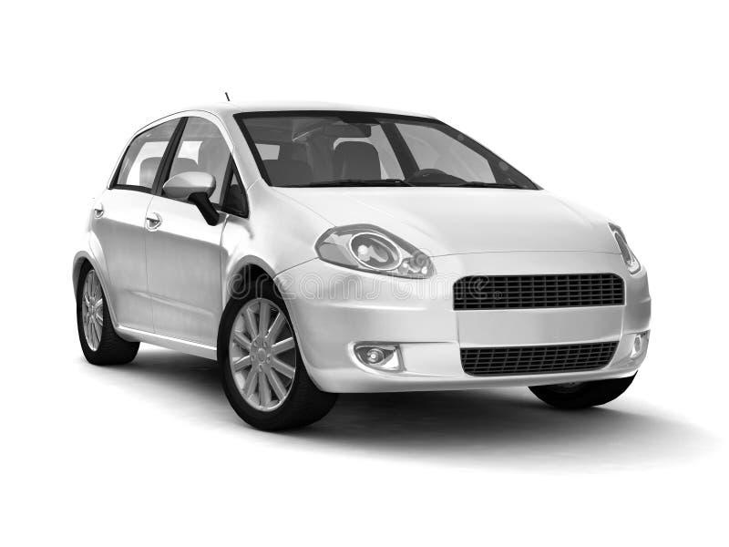Compact new silver car royalty free stock photos