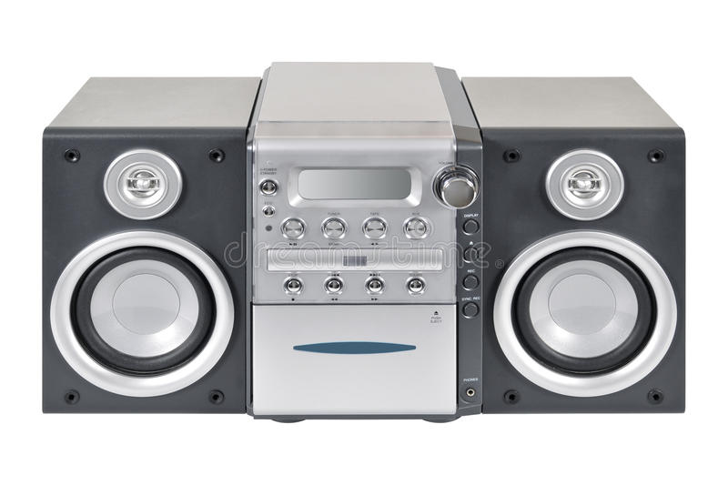 Download Compact stereo system stock photo. Image of button, audio - 24809542