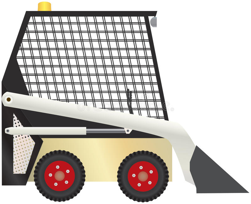Compact Tractor Vector. Vector illustration of compact tractor equipment stock illustration