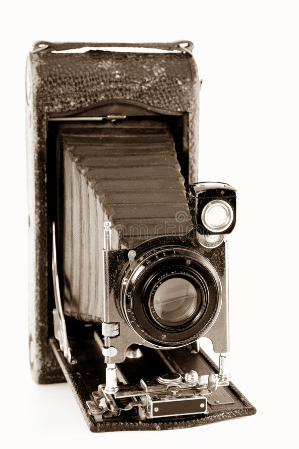Download Compact Vintage Camera stock image. Image of bellows, antique - 3961229