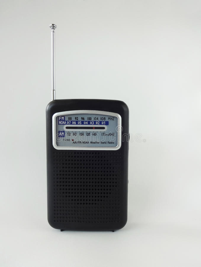 Compact Weather Radio. Against a White Background stock photos