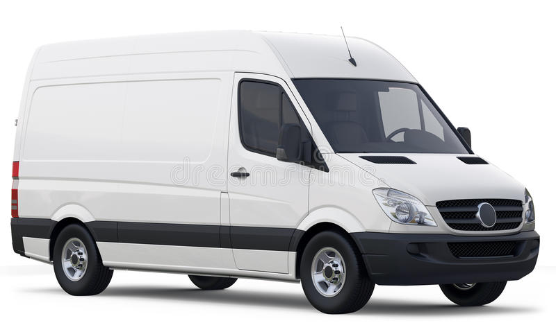 Compact white cargo van royalty free stock photography