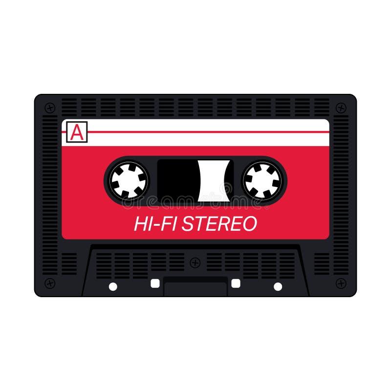 Compacte audiocassette stock illustratie