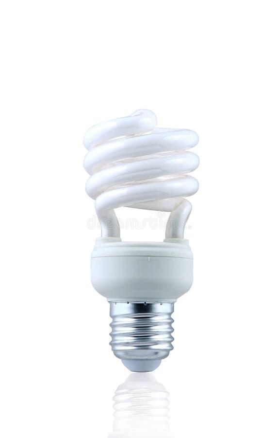 Compacte Fluorescente Spiraalvormige Lightbulb royalty-vrije stock foto's
