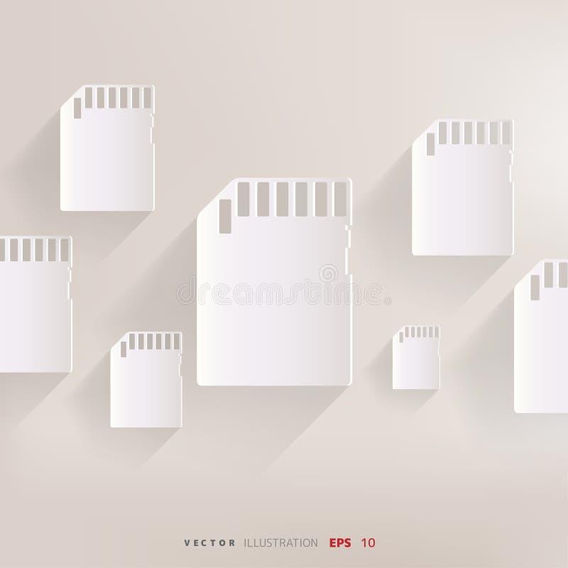 Compacte het pictogram vectorillustratie van de geheugenkaart stock illustratie