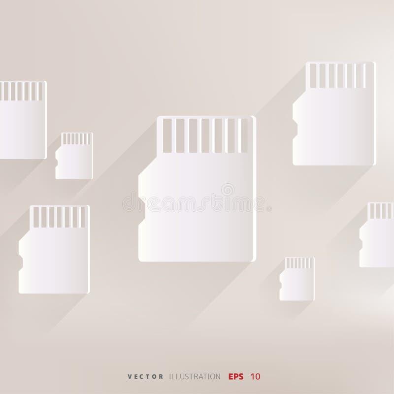 Compacte het pictogram vectorillustratie van de geheugenkaart royalty-vrije illustratie