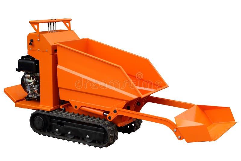 Compacte oranje lader stock fotografie