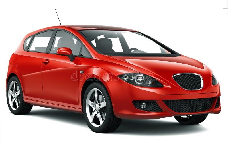 Compacte rode auto royalty-vrije stock afbeelding