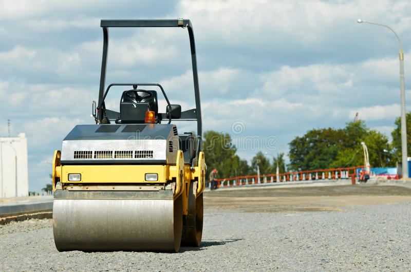 Download Compactor Roller At Road Work Stock Photo - Image: 22004226