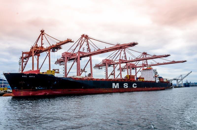 Compagnia di spedizioni Mediterranea fotografia stock