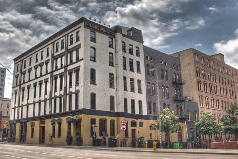 Compagnie de brassage de Grand Rapids photographie stock