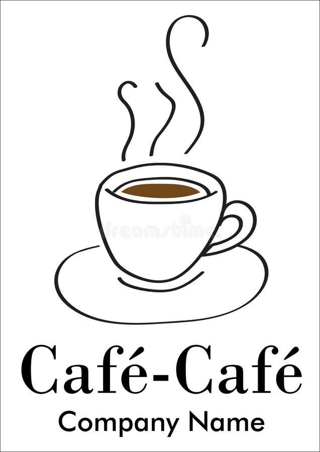 Compagnie de café ou logotype de bar illustration libre de droits