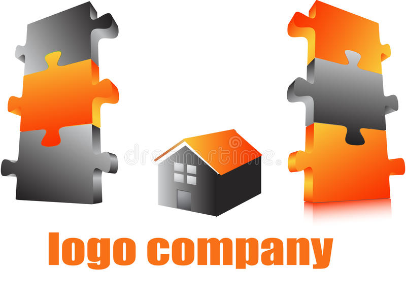 Compagnie de logo illustration libre de droits