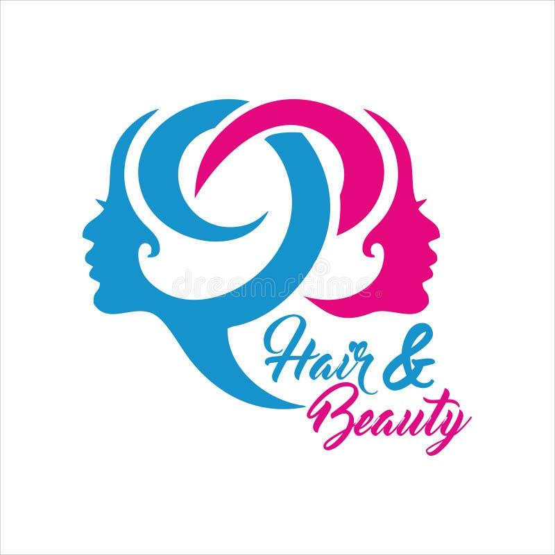 Compagnie Logo Vector de salon de beauté images stock