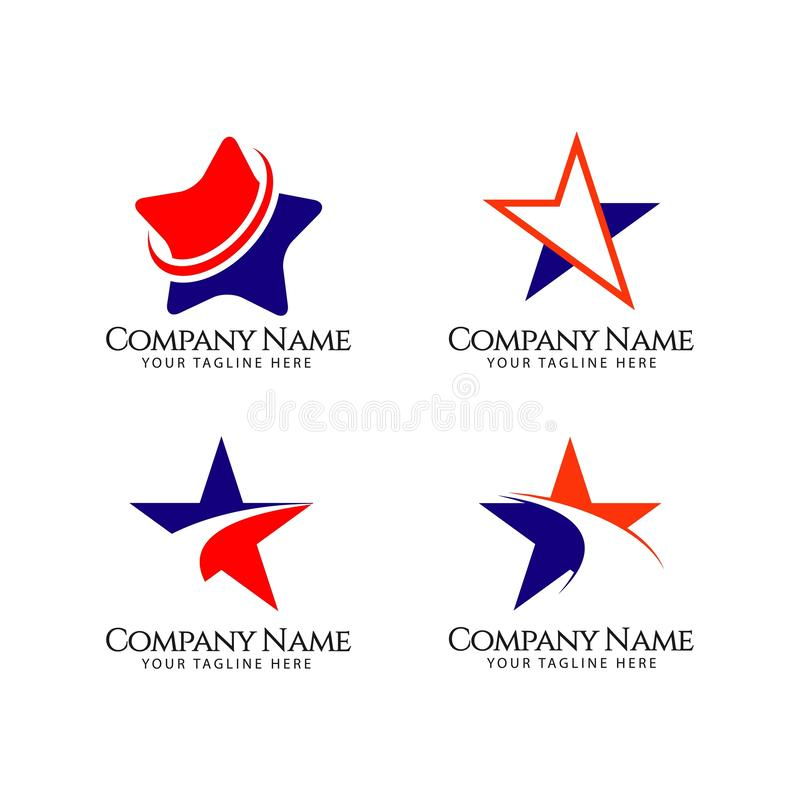 Compagnie Logo Vector Template Design Illustration d'?toile illustration stock