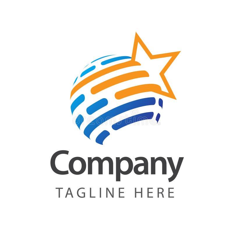 Compagnie Logo Vector Template Design Illustration d'?toile illustration de vecteur