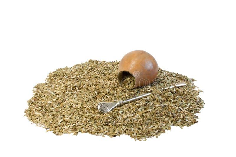 Compagnon et calebasse de thé image stock